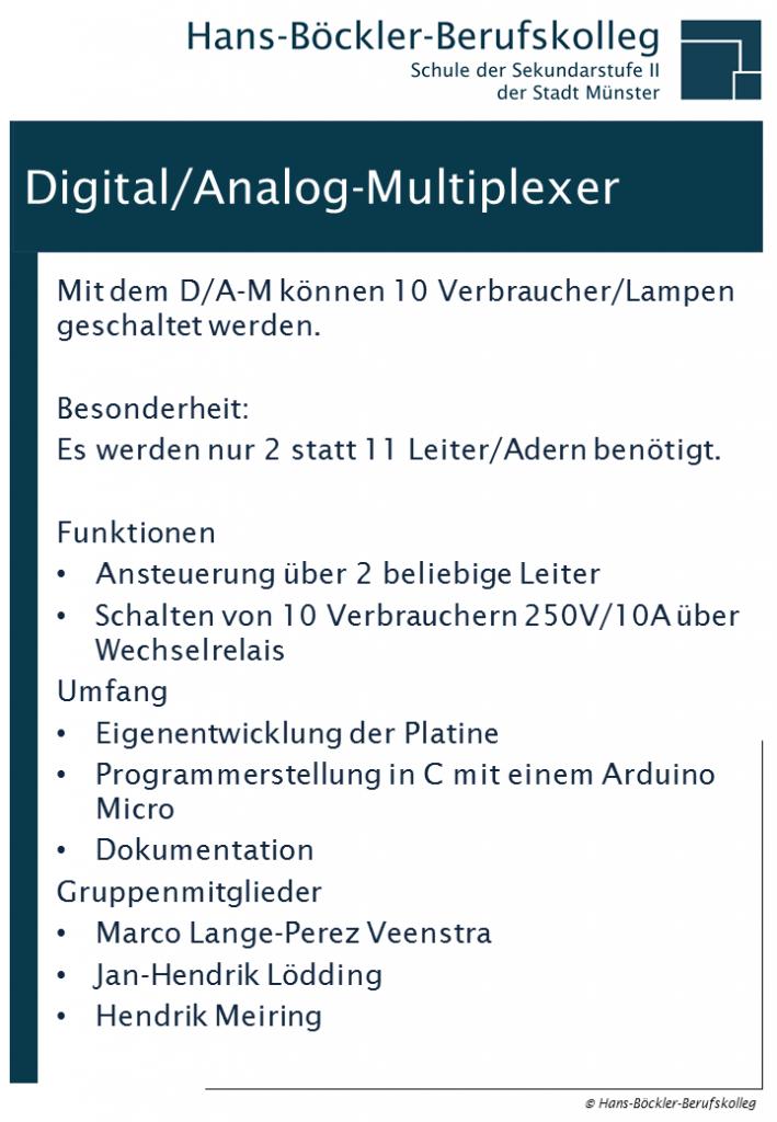 DigitalAnalog-Multiplexer